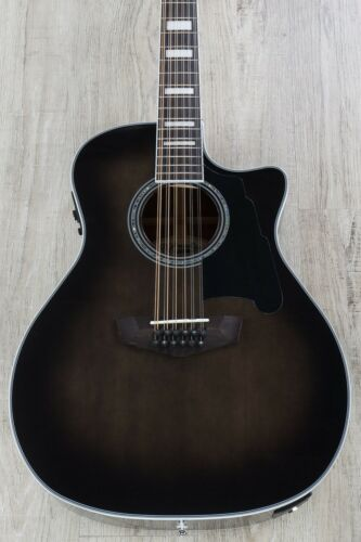 D/'Angelico Premier Fulton 12-String Acoustic-Electric Guitar Grey Black