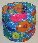 Colored Tropical Fish Tubular Multi Function Headwear Scarf Balaclava Beanie Cap