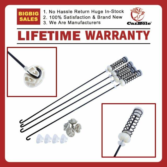 4 Packs W10780048 Washing Machine Suspension Rods Kit for Whirlpool Kenmore
