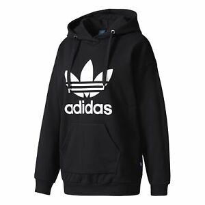 también Respecto a Interpretar  Adidas Women's Trefoil Hoodie Jumper Pullover Sports Top Black | eBay