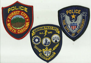 Salisbury-Henderson-Forest-City-NORTH-CAROLINA-Police-Patches
