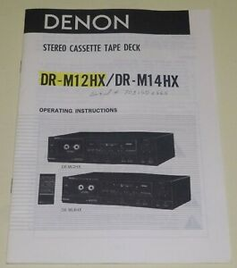 Denon-DR-M12HX-DR-M14HX-Stereo-Cassette-Deck-Original-Owners-Manual