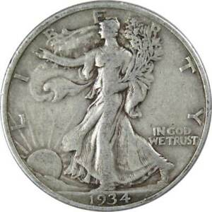 1934-50c-Liberty-Walking-Silver-Half-Dollar-US-Coin-F-Fine