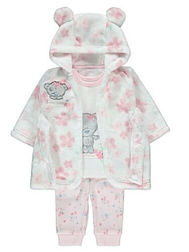 Tatty Teddy Baby Girls Dressing Gown /& Pyjamas Me to You Robe 3-24 Months New