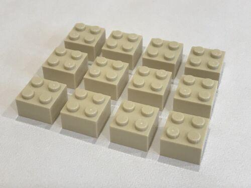 C014 Tan P//N 3003 NEW 12x Lego Bricks 2x2 Studs