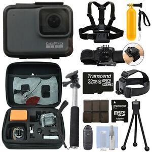 GoPro-HERO7-Silver-10-MP-Waterproof-4K-Camera-Camcorder-32GB-Action-Bundle