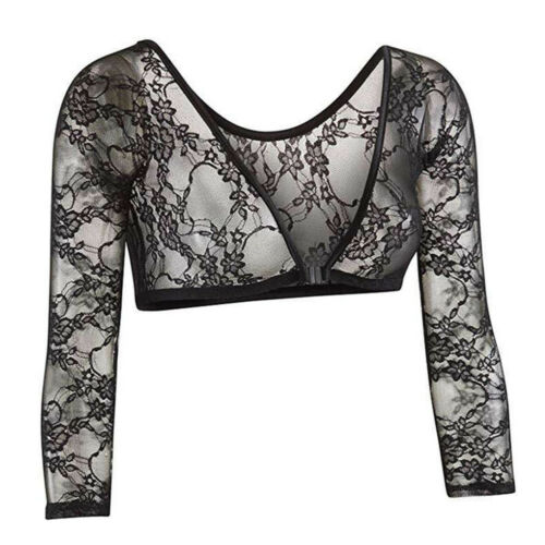 Women Lace Seamless Arm Shaper Slimming Upper Sleeves Vest Hollow Tops Acces