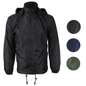 Renegade-Men-039-s-Water-Resistant-Polar-Fleece-Lined-Hooded-Windbreaker-Rain-Jacket