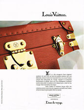 PUBLICITE ADVERTISING 084  1990  LOUIS VUITTON   collection malles valises