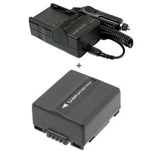 AKKU LADEGERÄT für Panasonic NV-GS-10 NV-GS10EG-S NV-GS120B NV-GS120EG-S