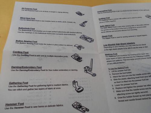 15 PCS Snap On Adapter Blind hemmer Foot Walking Foot Low Shank High Shank