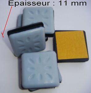 en vrac 32 patins glisseurs pais adh sif t flon 40 x 40 mm patin glisseur ebay. Black Bedroom Furniture Sets. Home Design Ideas