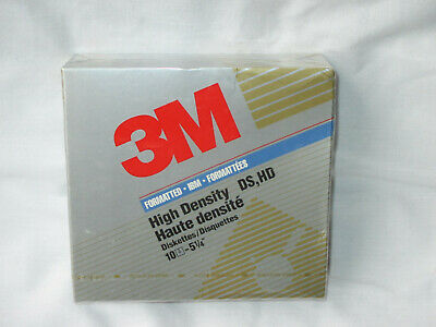 DS//HD 10//Box 3.5 Inch Floppy Diskettes IBM-Formatted