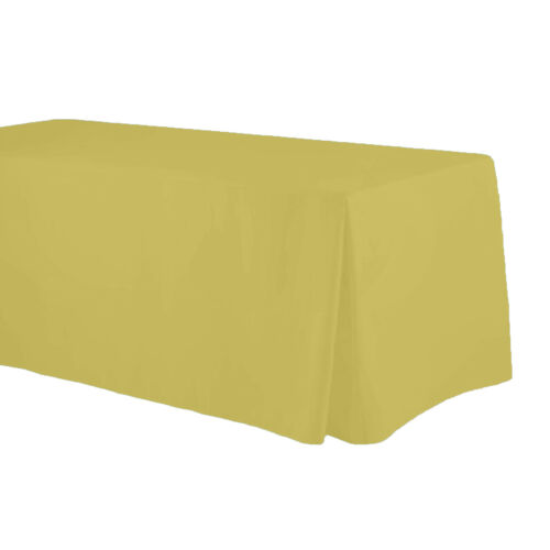 Corner Pleat 4 sides. Multiple colors Fitted Tablecloths for 8 Feet 30x96
