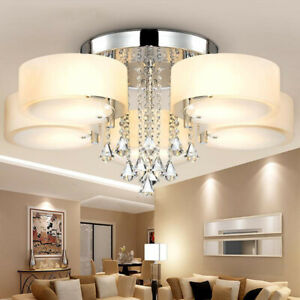 5 Colour Changing Led Chandelier Lamp, Contemporary Living Room Ceiling Lights Uk