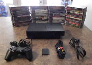 Sony-PlayStation-2-PS2-Black-Fat-Model-Console-Bundle-with-Games-Fast-Shipping