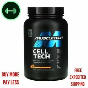 Muscletech, Cell Tech, Research-Backed Creatine Tropical Citrus Punch, 3 lbs