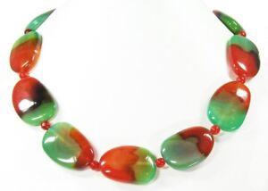 Edelsteinkette-aus-Achat-Rote-Gruene-Farbe