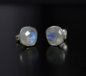 Rainbow-Moostone-925-Sterling-Silver-Stud-Earring-Gemstone-Earring-113