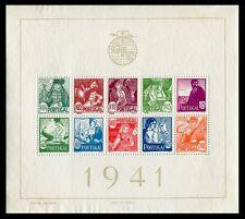 Portugal - Hojas bloque- Año: 1941 - numero 00004 - (*) Costumbres Regionales