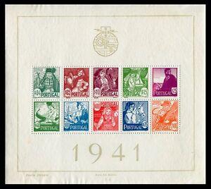 Portugal-Hojas-bloque-Ano-1941-numero-00004-Costumbres-Regionales
