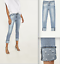 Zara-skinny-MID-RISE-JEANS-WITH-PEARL-BEADS-ref-6164-172-light-blue-size-4-NWT thumbnail 1
