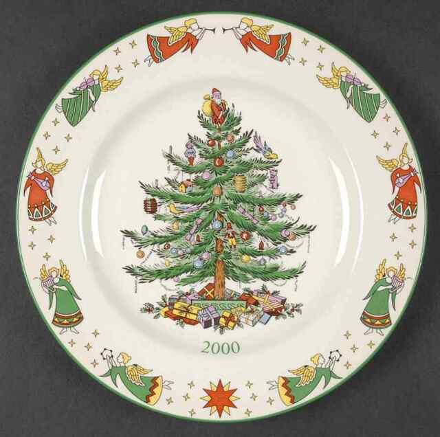 Spode CHRISTMAS TREE (GREEN TRIM) 2000 Collector Plate 2610271 - Spode Christmas Tree (green Trim) 2000 Collector Plate 2610271 EBay