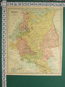 Vladimir Russia Map.C1880 Antique Map Russia In Europe Poland Vladimir Finland