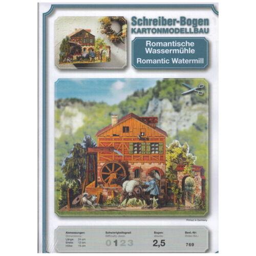 Moulin à Eau Romantique Schreiber-Bogen Maquette en Carton