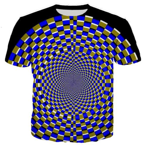 New Fashion Women Men Hypnotic Funny 3D Print Casual T-Shirt Short Sleeve Tee