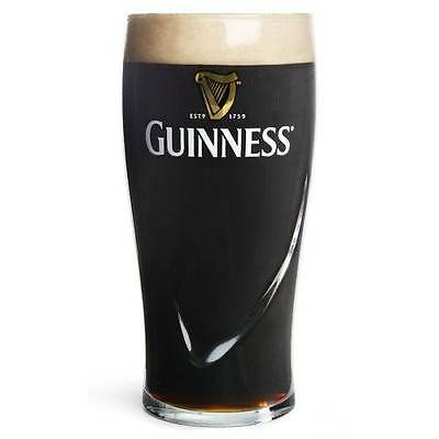 4 X GUINNESS PINT GLASSES CE MARKED 20oz 568ml 1 PINT TOUGHENED GLASS NEW
