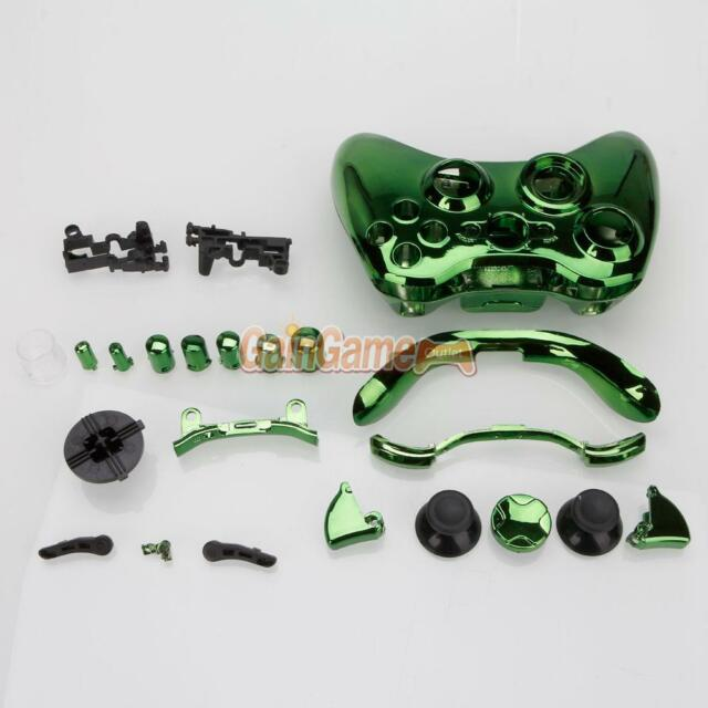 New Wireless Controller Case Shell Cover + Buttons for XBOX 360 Plating Green US