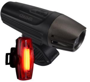 Axiom Lazer 700 LED-Pulse 30 Bicicleta Cabeza & Combo De Luz De La Cola Negro  110