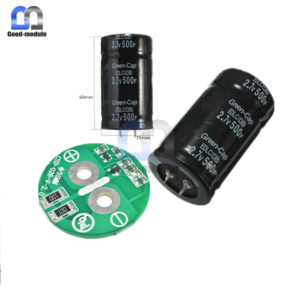 2.7V 500F Capacitor Farad Electrolytic Capacitor 35*60MM 16V 83F Four//Two Feet