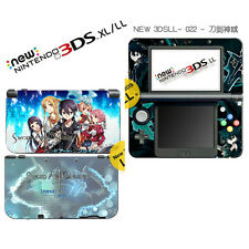 Hot Sword Art Online Vinyl Game Decals Skin Stickers for Nintendo New 3DS XL LL