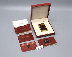 """Vintage S.T. Dupont """"Maduro"""" Lacque de Chine Cigar Lighter w/Original Box"""