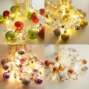 20LED-Noel-Fairy-String-Lights-Boule-Guirlande-de-Noel-Arbres-Fete-De-Mariage-Decor