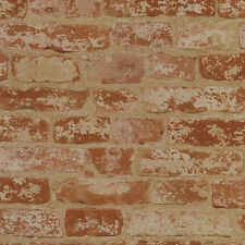 Rusty Red Brick with Age Sure Strip Wallpaper BZ9206