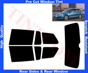 Pre-Cut-Window-Tint-VW-Golf-VII-5D-Est-13-Rear-Window-amp-Rear-Sides-Any-Shade