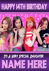 Blackpink Personalised Birthday Card Any Name Age Relation Kpop