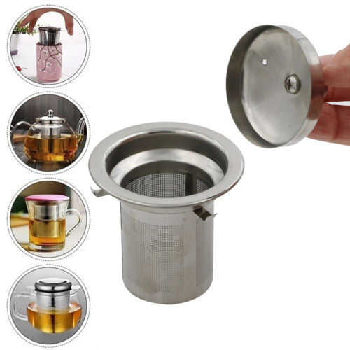 Reusable Mesh Infuser Tea Strainer Leaf Spice Filter Stainless Steel for Teapot`