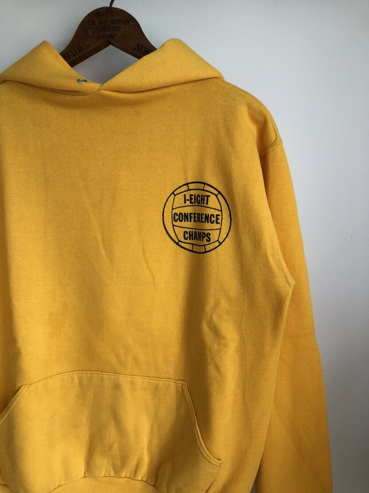 VTG 70s Russell Athletic Gold Yellow Hoodie Sweat… - image 3
