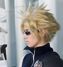 Final Fantasy VII Cloud Blonde Cosplay Wig short Costome party coser wigs