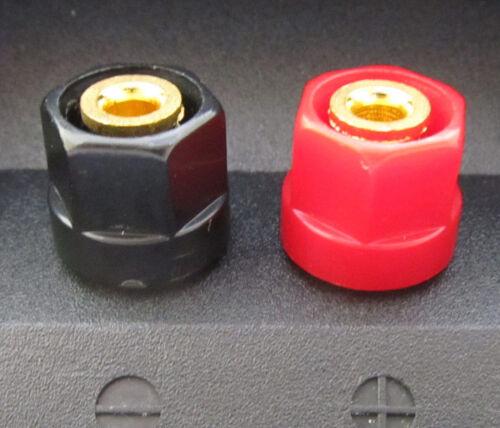 10x Small Hex Head Gold Speaker Binding Post 4mm Banana Jack Audio Connector US