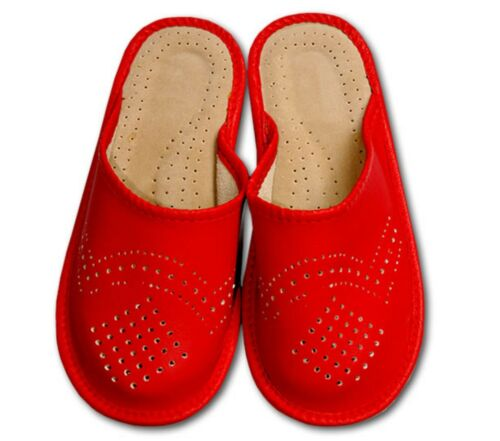 SLIPPERS LADIES H-Q  WOMEN/'S NATURAL LEATHER GIRLS LADIES WOMEN SLIPPERS!!