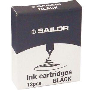 Sailor Japan Fountain pen Ink Cartridge 12pcs Gentle 13-0404-120 Black