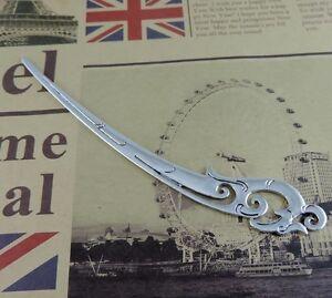 4X-Antique-Silver-Tone-Alloy-Firebird-Shape-Hair-Pin-Comb-Craft-Accessories