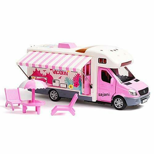 Toys Ngel Holiday Vacation Camper Van with Picnic Table Cool Mini Motor home