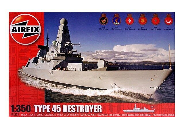AIRFIX KIT 1 350 NAVE TYPE 45 DESTROYER  12203 SERIE 12