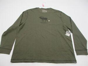 new-EDDIE-BAUER-Shirt-Men-039-s-Size-XXL-Hiking-Trail-Thermal-Long-Sleeve-Green